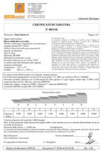 certificato-taratura